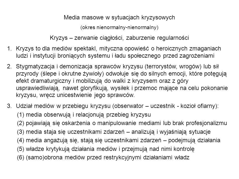 Media masowe w sytuacjach kryzysowych