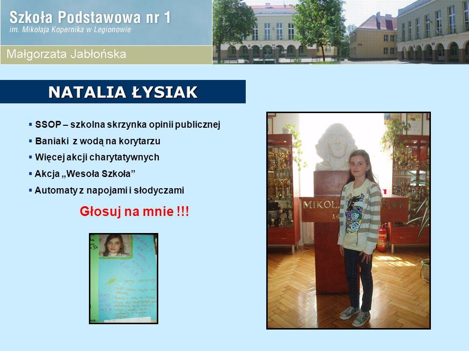 NATALIA ŁYSIAK Głosuj na mnie !!!
