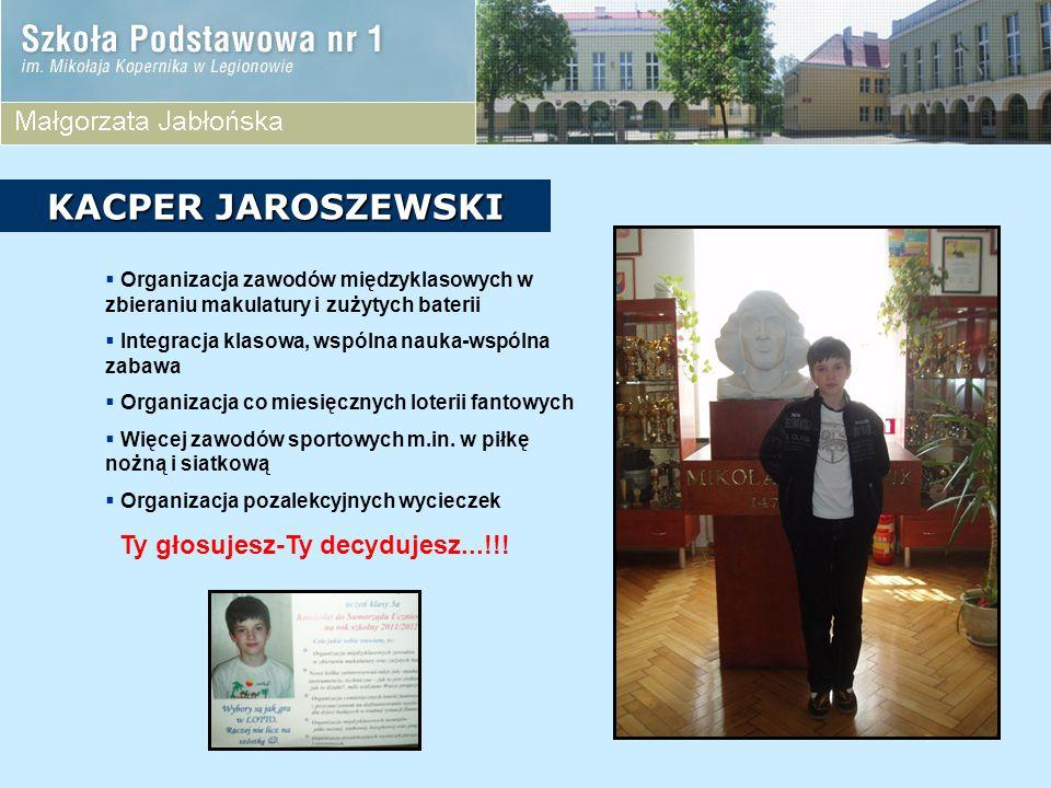 KACPER JAROSZEWSKI Ty głosujesz-Ty decydujesz...!!!
