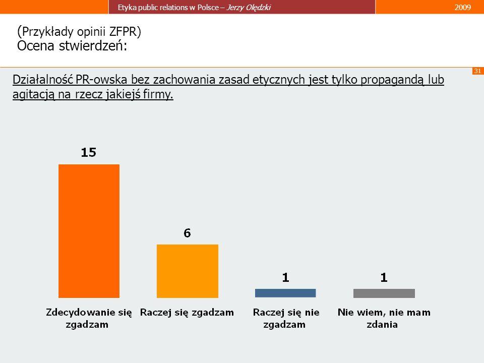 (Przykłady opinii ZFPR) Ocena stwierdzeń: