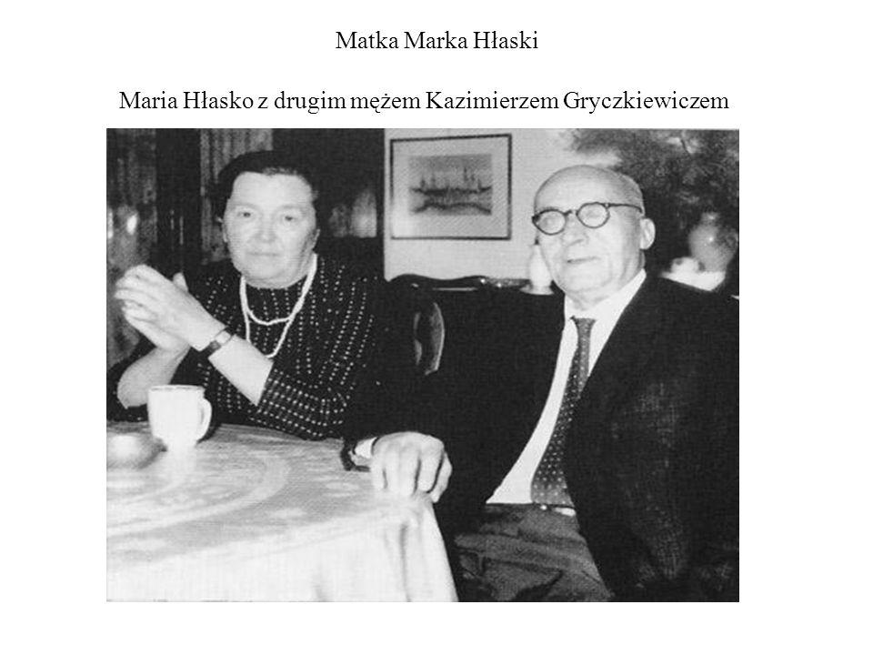 Matka Marka Hłaski Maria Hłasko z drugim mężem Kazimierzem Gryczkiewiczem