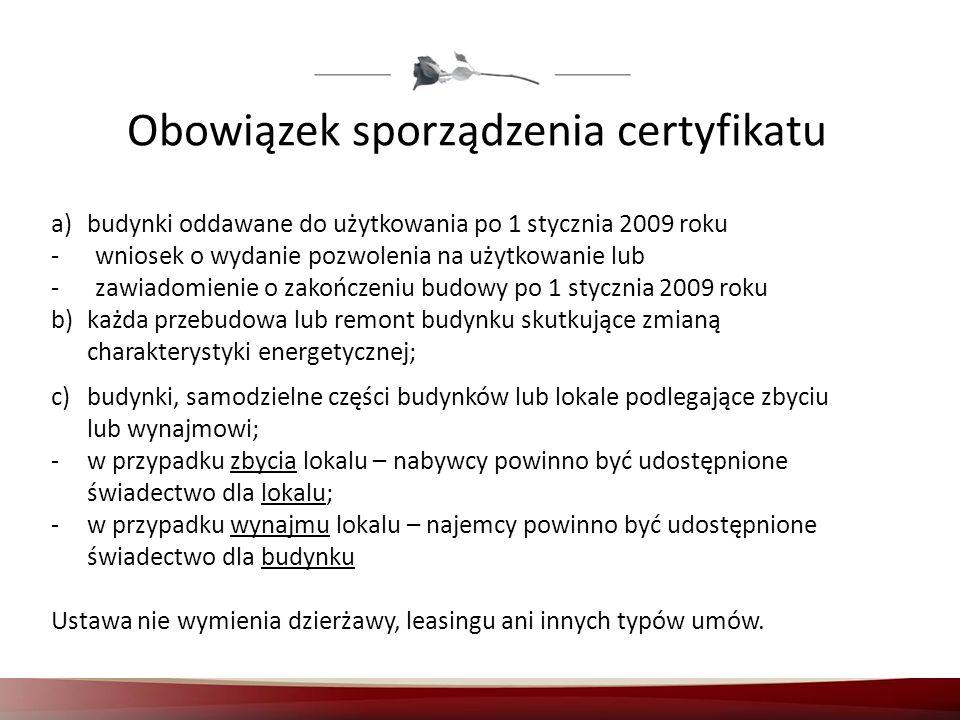 Obowiązek sporządzenia certyfikatu