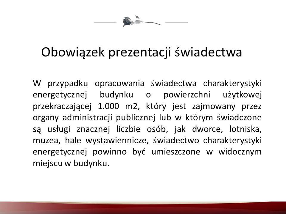 Obowiązek prezentacji świadectwa