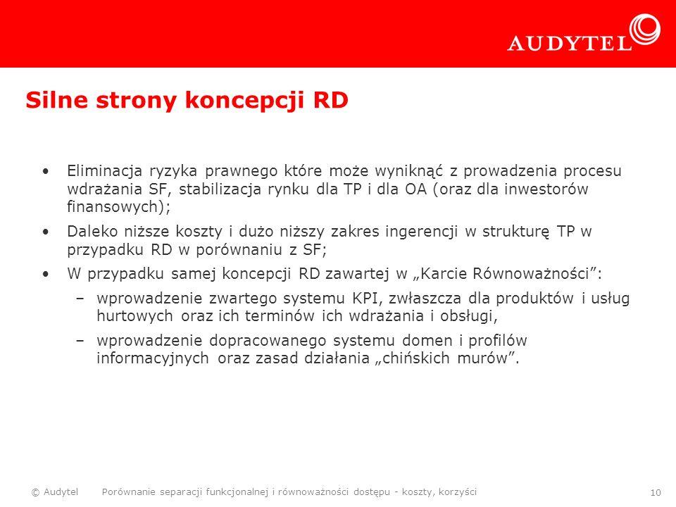 Silne strony koncepcji RD
