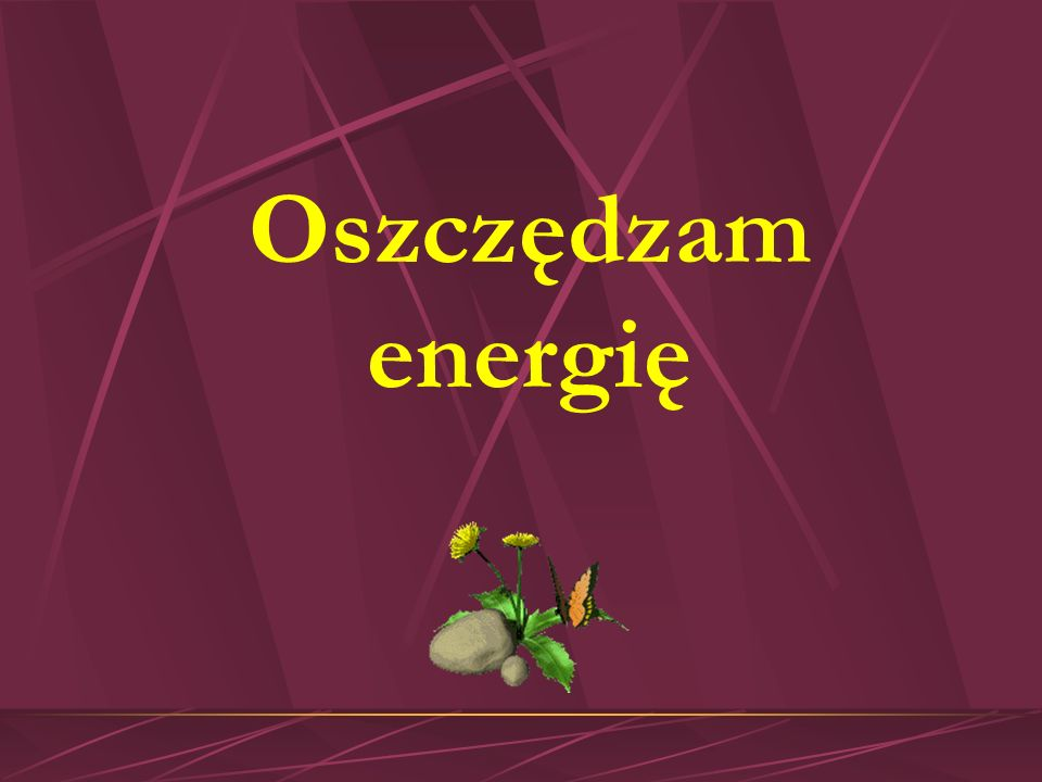 Oszczędzam energię