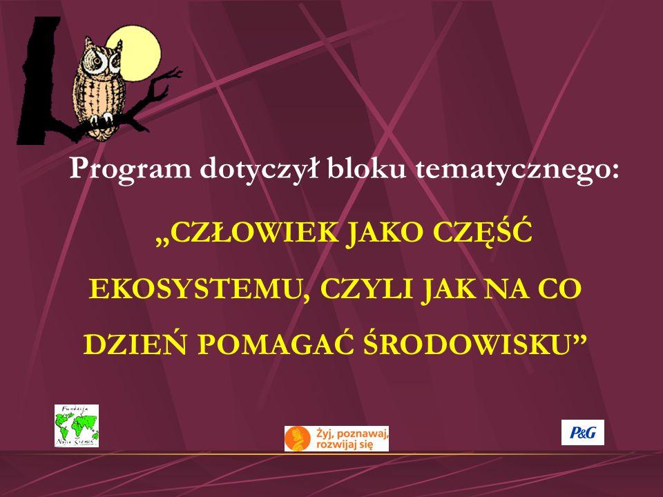 Program dotyczył bloku tematycznego: