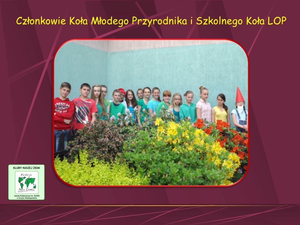 Członkowie Koła Młodego Przyrodnika i Szkolnego Koła LOP