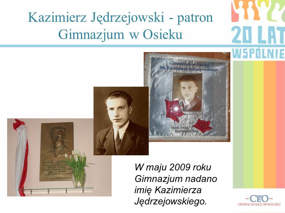 Kazimierz Jędrzejowski - patron Gimnazjum w Osieku