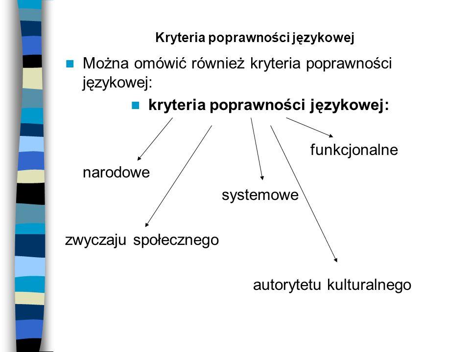 Kryteria poprawności językowej