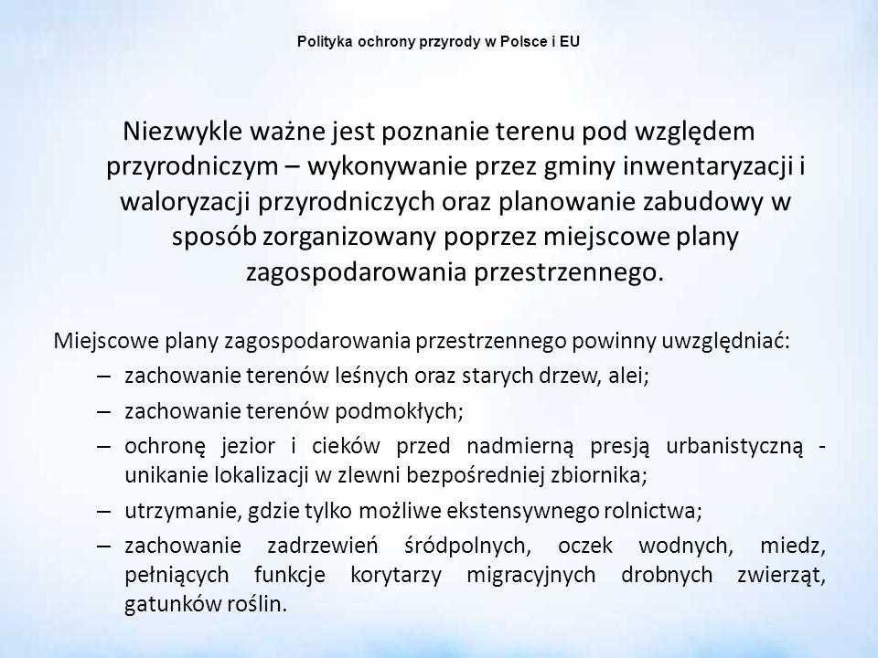 Polityka ochrony przyrody w Polsce i EU
