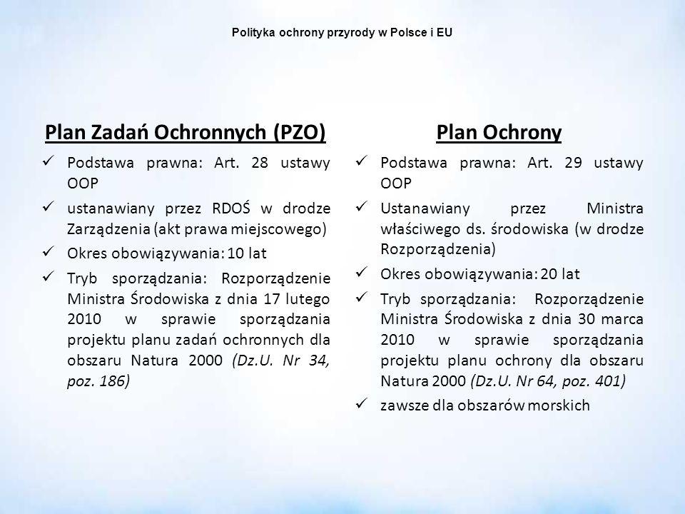 Polityka ochrony przyrody w Polsce i EU Plan Zadań Ochronnych (PZO)