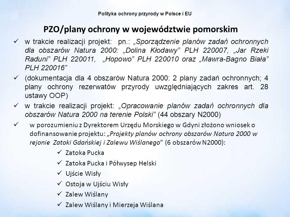 PZO/plany ochrony w województwie pomorskim