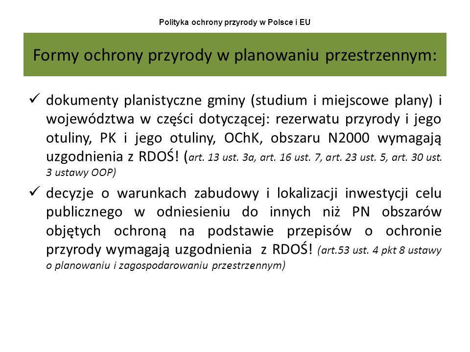 Formy ochrony przyrody w planowaniu przestrzennym: