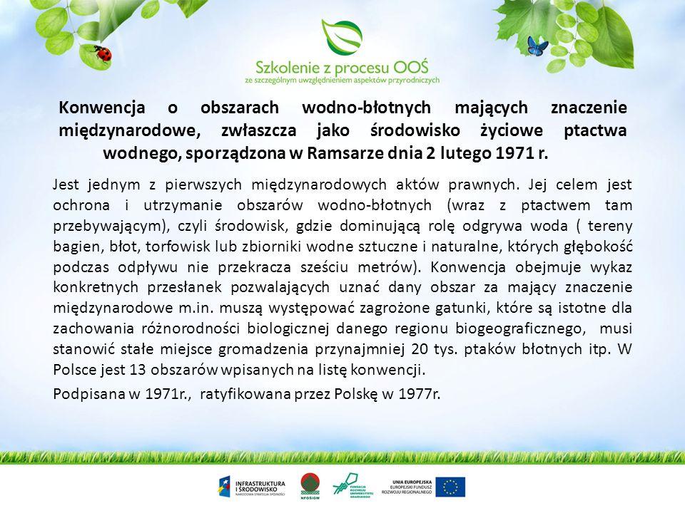 Konwencja o obszarach wodno-błotnych mających znaczenie międzynarodowe, zwłaszcza jako środowisko życiowe ptactwa wodnego, sporządzona w Ramsarze dnia 2 lutego 1971 r.