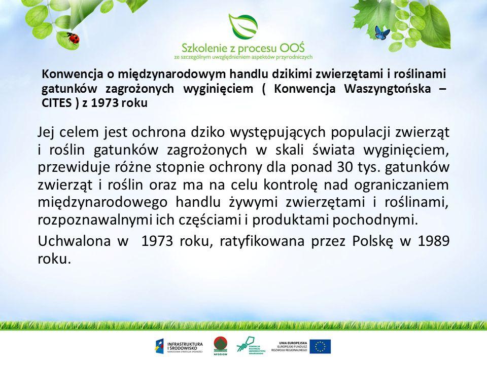 Uchwalona w 1973 roku, ratyfikowana przez Polskę w 1989 roku.