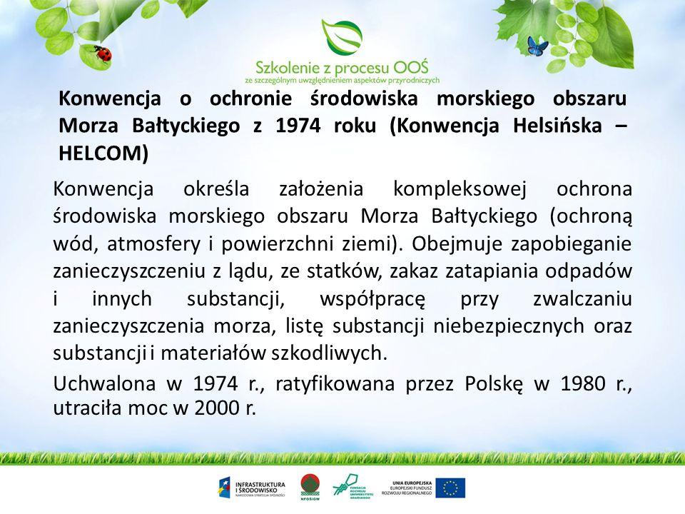 Konwencja o ochronie środowiska morskiego obszaru Morza Bałtyckiego z 1974 roku (Konwencja Helsińska – HELCOM)