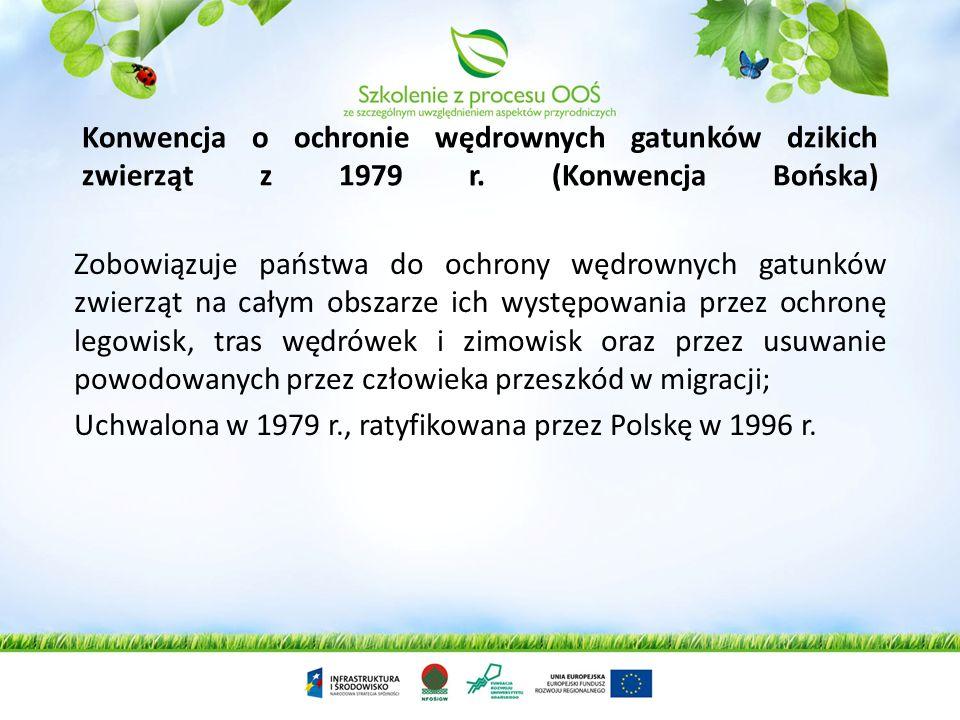 Konwencja o ochronie wędrownych gatunków dzikich zwierząt z 1979 r