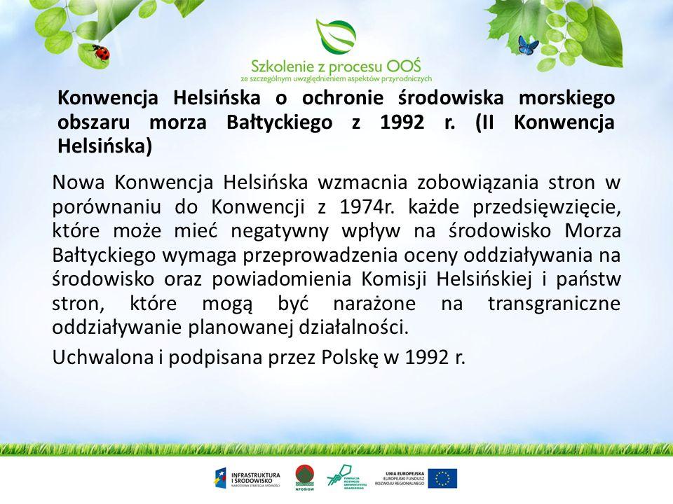 Konwencja Helsińska o ochronie środowiska morskiego obszaru morza Bałtyckiego z 1992 r. (II Konwencja Helsińska)