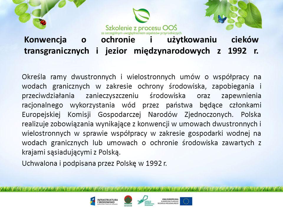 Konwencja o ochronie i użytkowaniu cieków transgranicznych i jezior międzynarodowych z 1992 r.