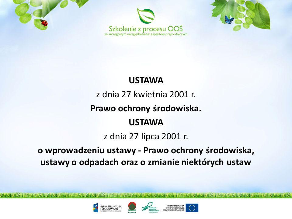 Prawo ochrony środowiska.