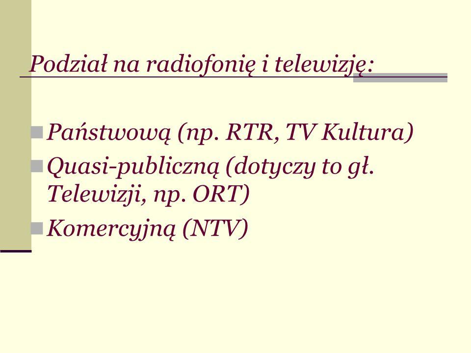 Podział na radiofonię i telewizję: