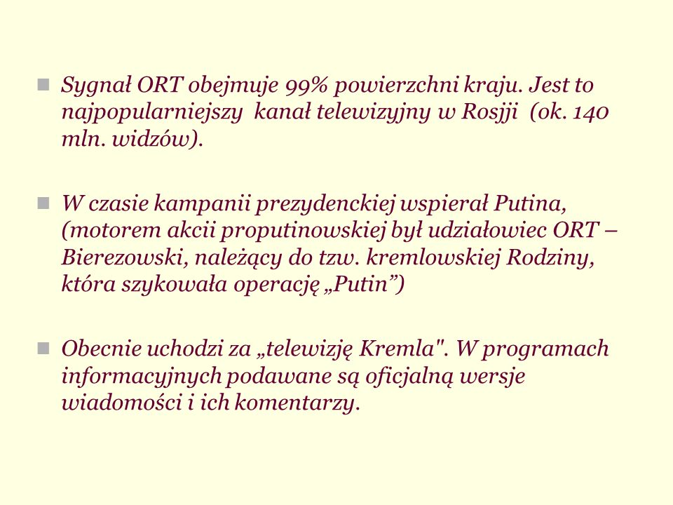 Sygnał ORT obejmuje 99% powierzchni kraju
