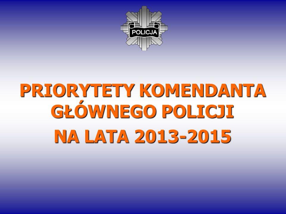 PRIORYTETY KOMENDANTA GŁÓWNEGO POLICJI