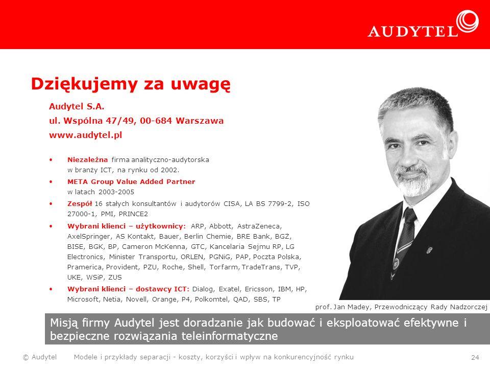 prof. Jan Madey, Przewodniczący Rady Nadzorczej