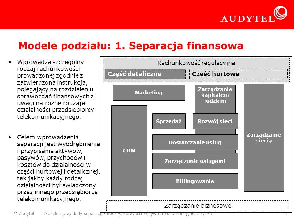 Modele podziału: 1. Separacja finansowa