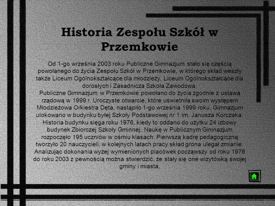 Historia Zespołu Szkół w Przemkowie