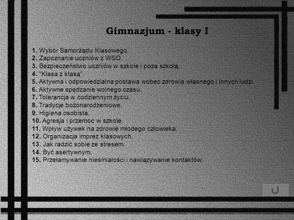 Gimnazjum - klasy I