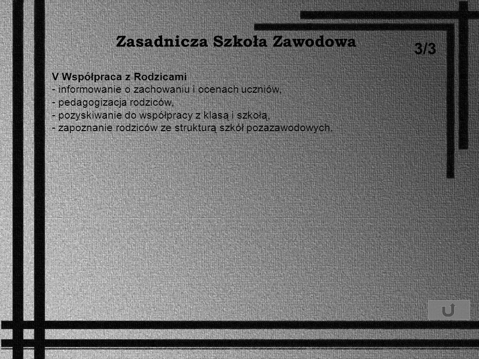 Zasadnicza Szkoła Zawodowa 3/3