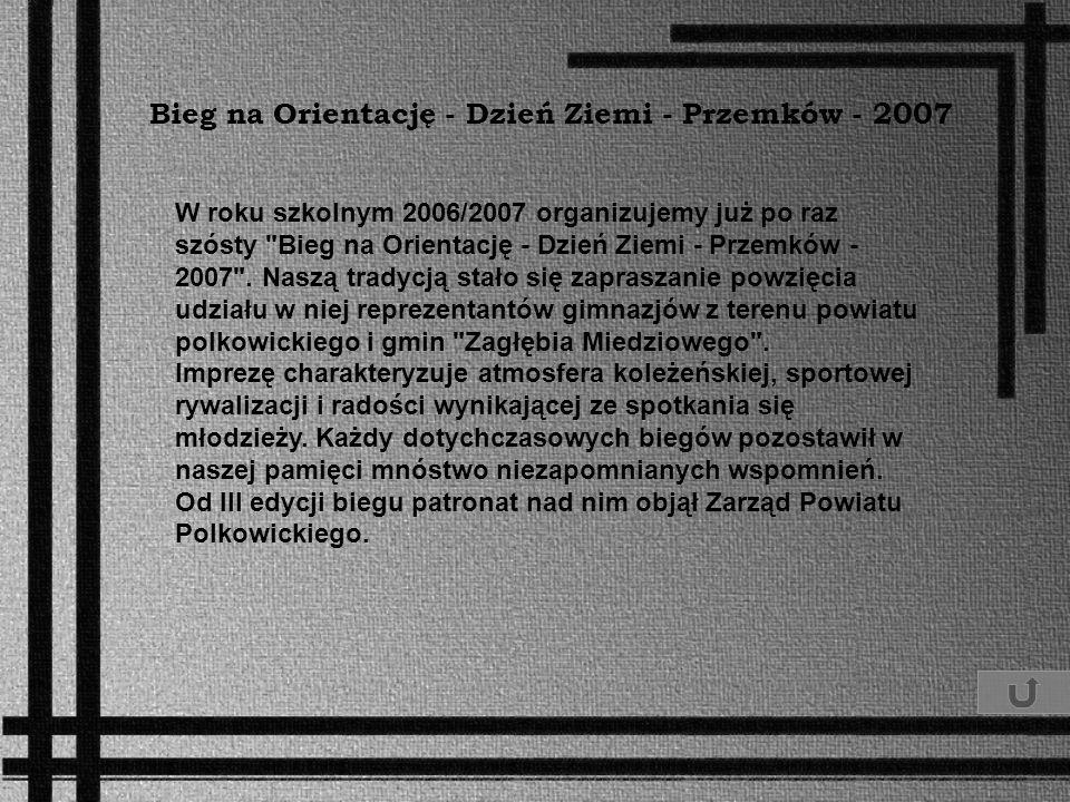 Bieg na Orientację - Dzień Ziemi - Przemków - 2007