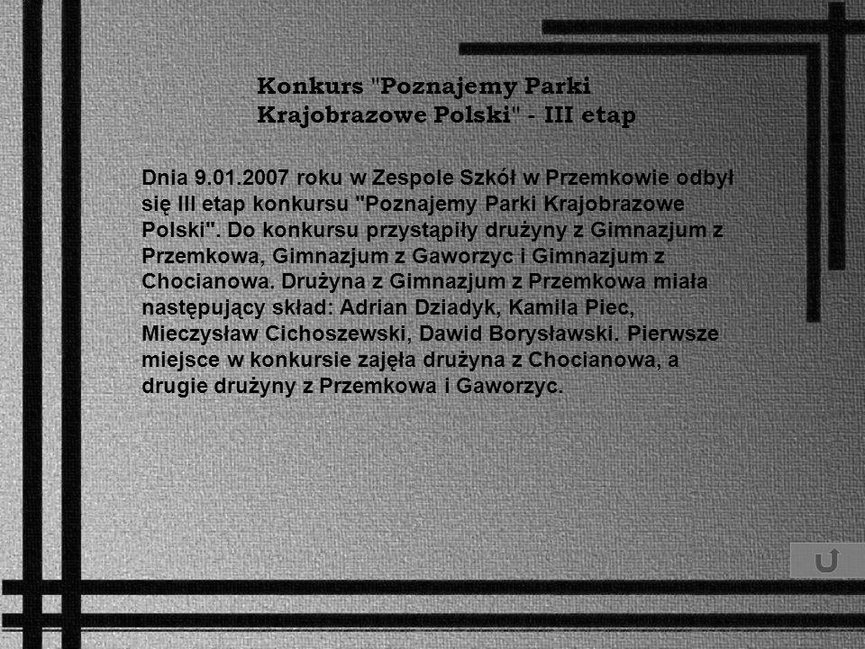 Konkurs Poznajemy Parki Krajobrazowe Polski - III etap