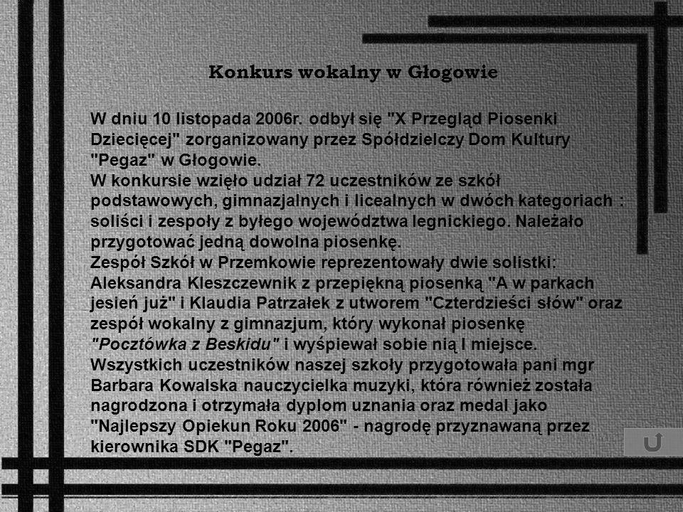 Konkurs wokalny w Głogowie
