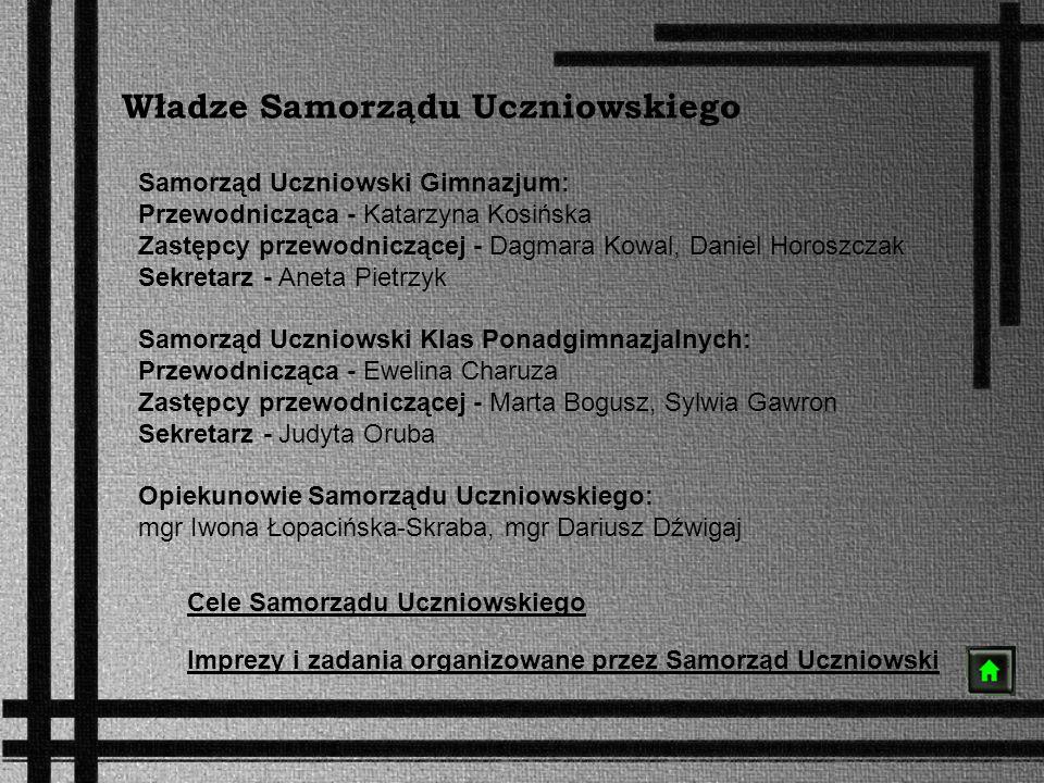 Władze Samorządu Uczniowskiego