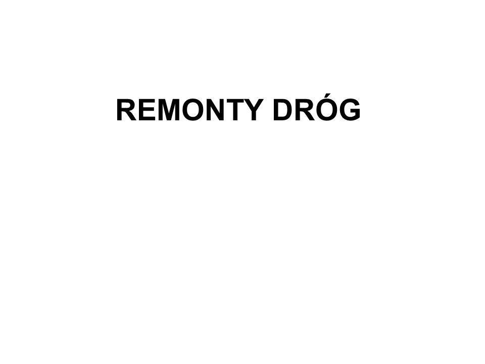 REMONTY DRÓG