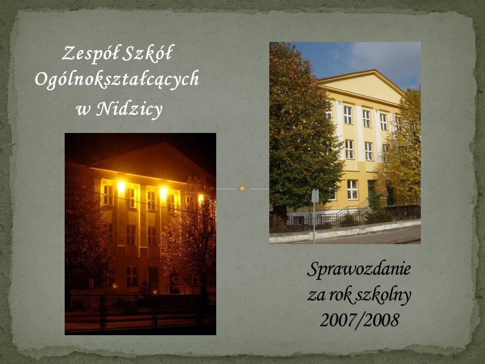 Sprawozdanie za rok szkolny 2007/2008