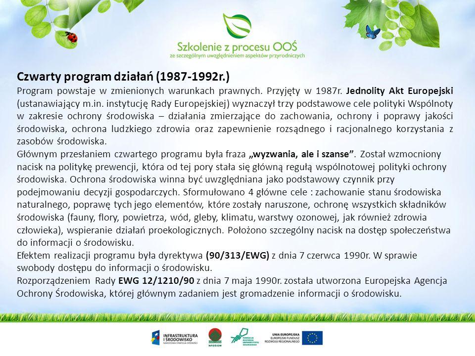 Czwarty program działań (1987-1992r.)
