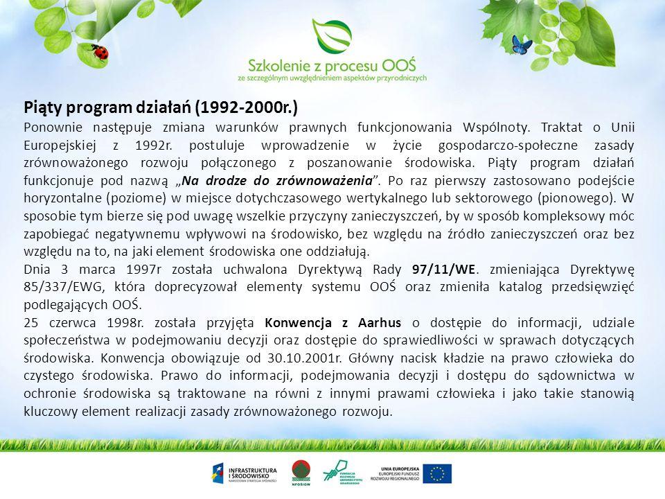 Piąty program działań (1992-2000r.)