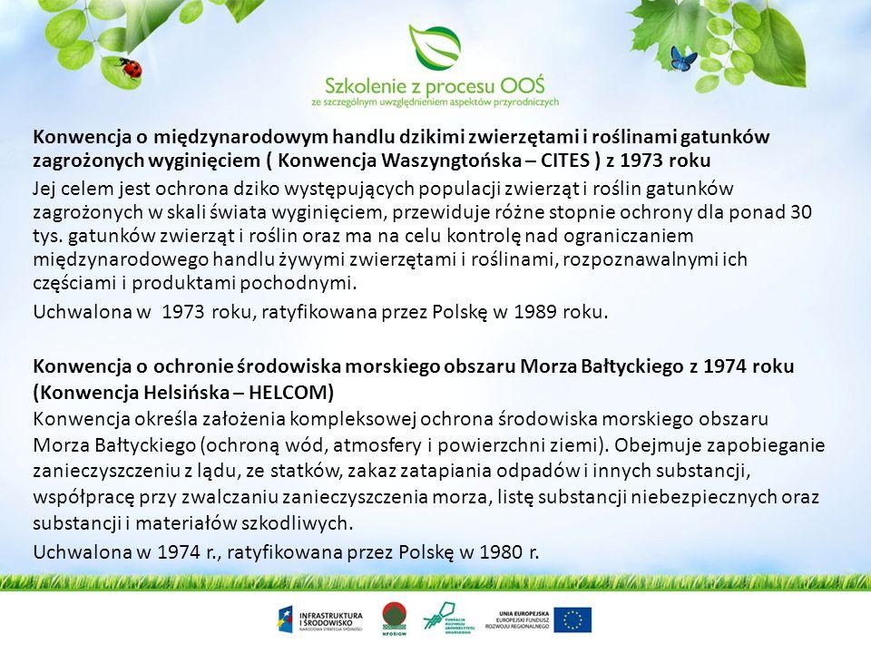 Konwencja o międzynarodowym handlu dzikimi zwierzętami i roślinami gatunków zagrożonych wyginięciem ( Konwencja Waszyngtońska – CITES ) z 1973 roku