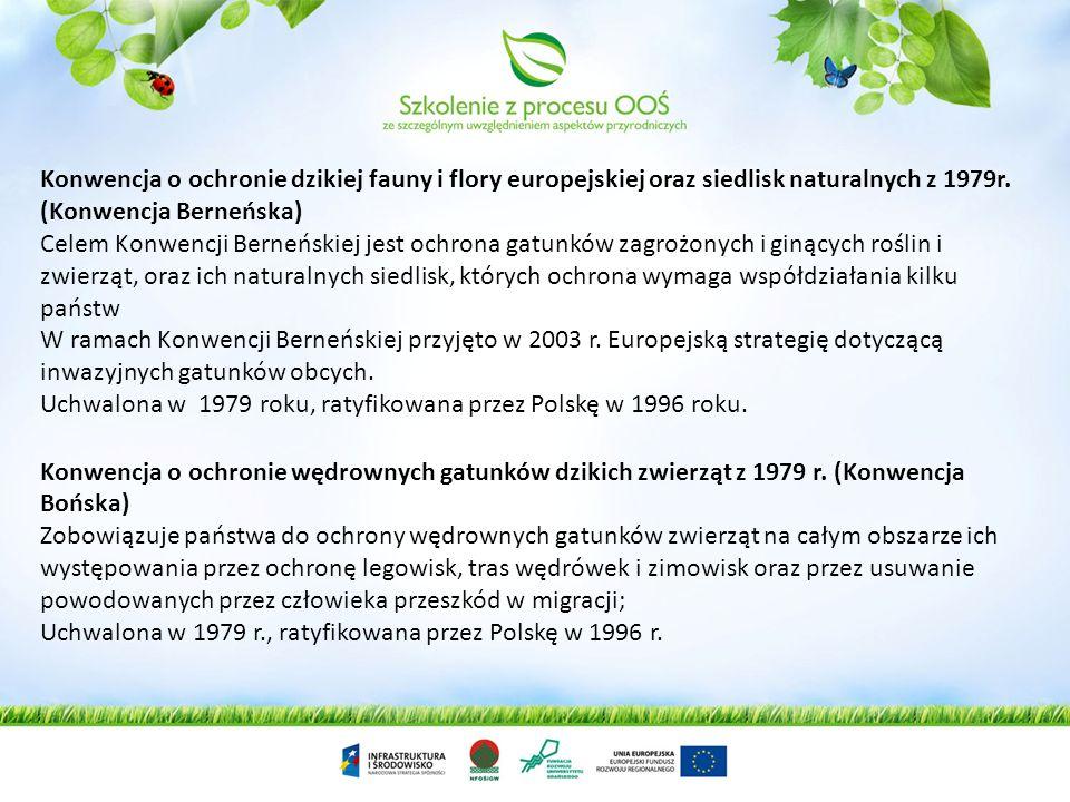 Konwencja o ochronie dzikiej fauny i flory europejskiej oraz siedlisk naturalnych z 1979r. (Konwencja Berneńska)