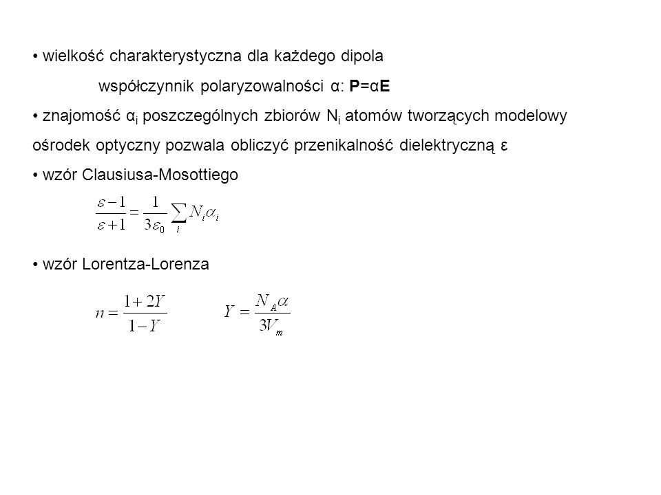 wielkość charakterystyczna dla każdego dipola