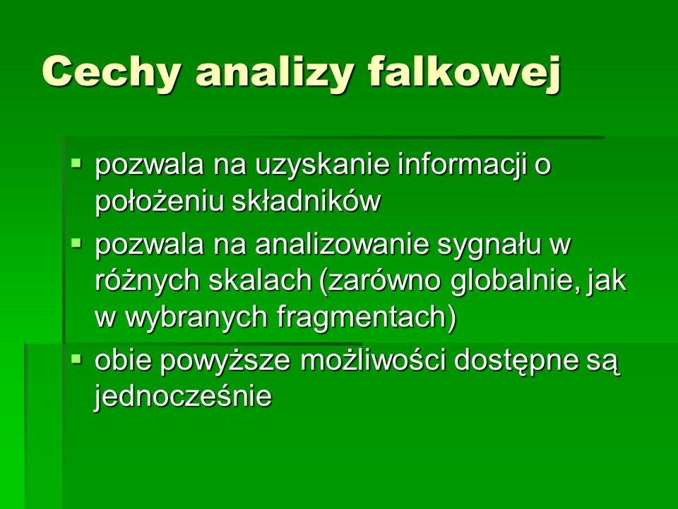 Cechy analizy falkowej