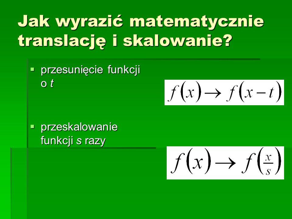 Jak wyrazić matematycznie translację i skalowanie