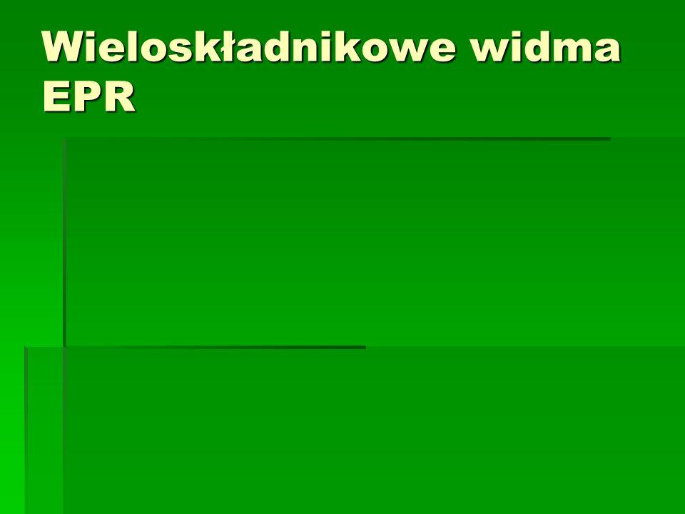 Wieloskładnikowe widma EPR
