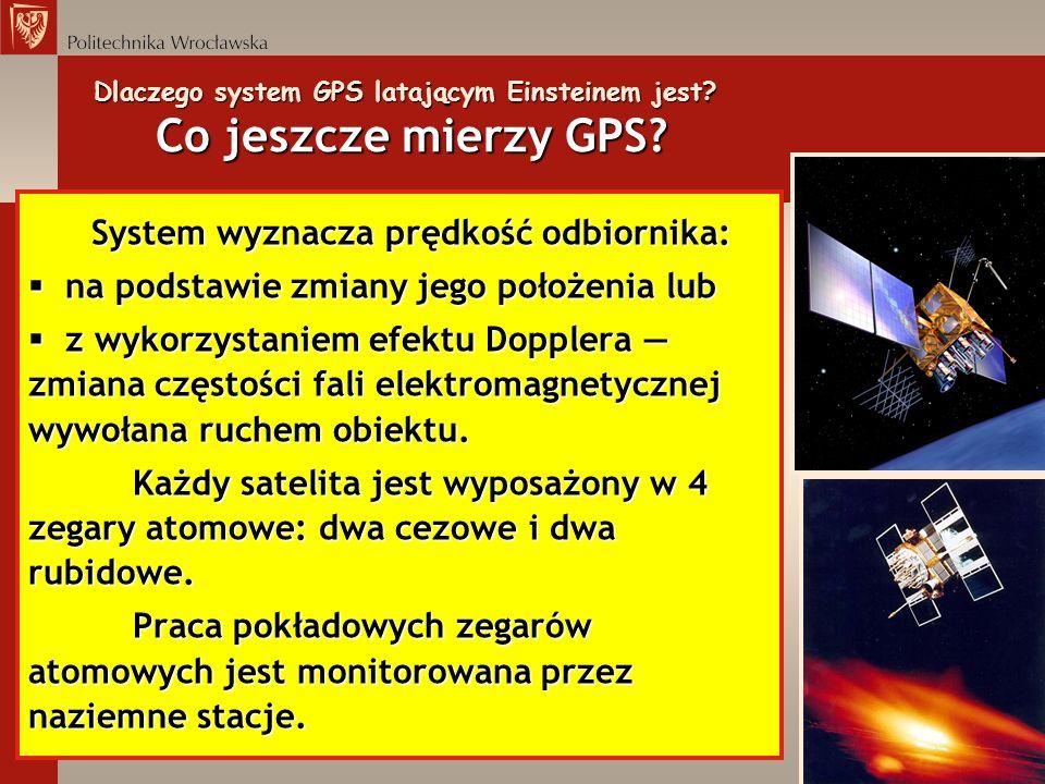 Dlaczego system GPS latającym Einsteinem jest Co jeszcze mierzy GPS