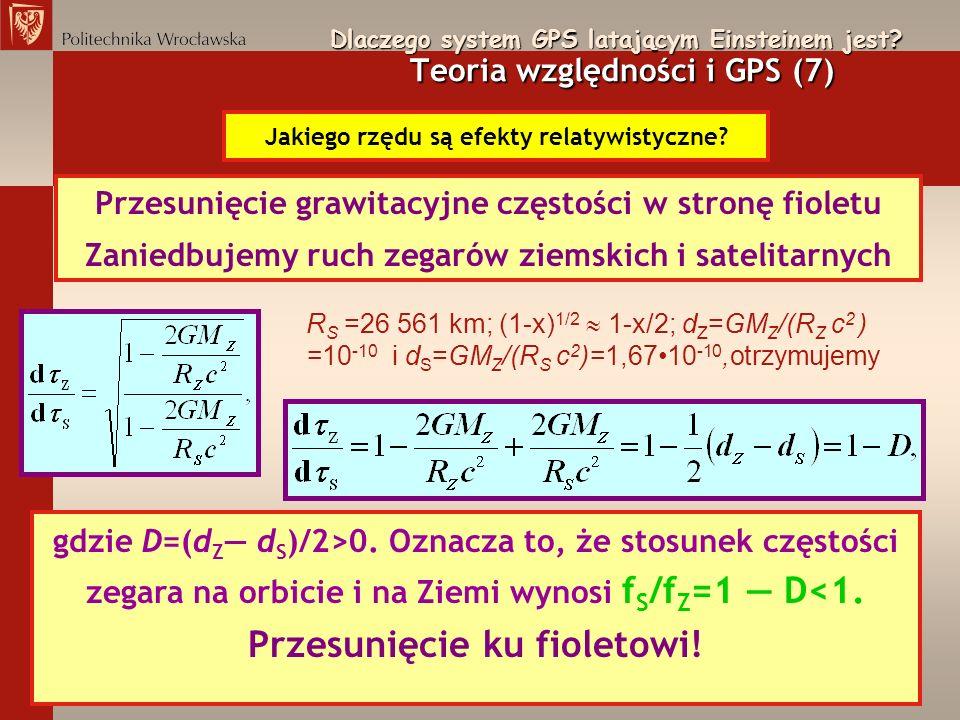 Przesunięcie grawitacyjne częstości w stronę fioletu