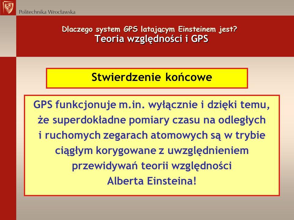 Dlaczego system GPS latającym Einsteinem jest Teoria względności i GPS