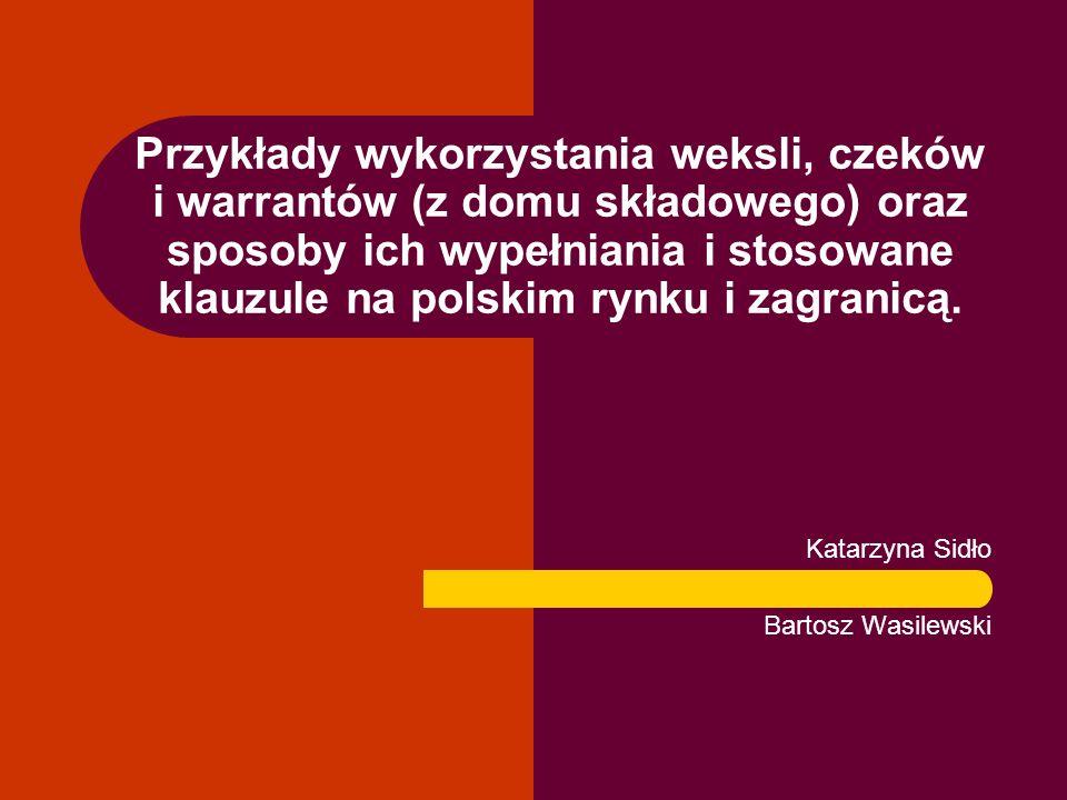 Katarzyna Sidło Bartosz Wasilewski
